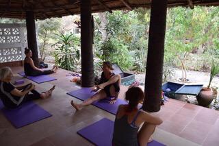 Karen Calder, yoga
