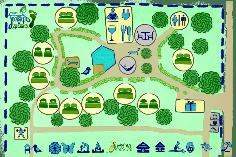 Lodge plan Footsteps eco-lodge