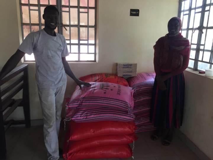 Afnow rice donation