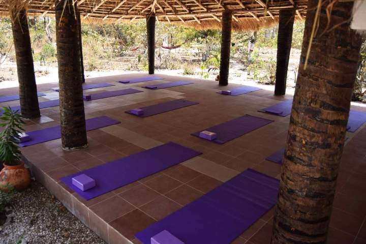 Yoga retreats at Footsteps eco-lodge Gambia | yoga shala for up to 18 people