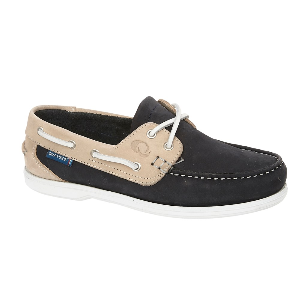 BERMUDA NAVY-SAND washable deck shoe