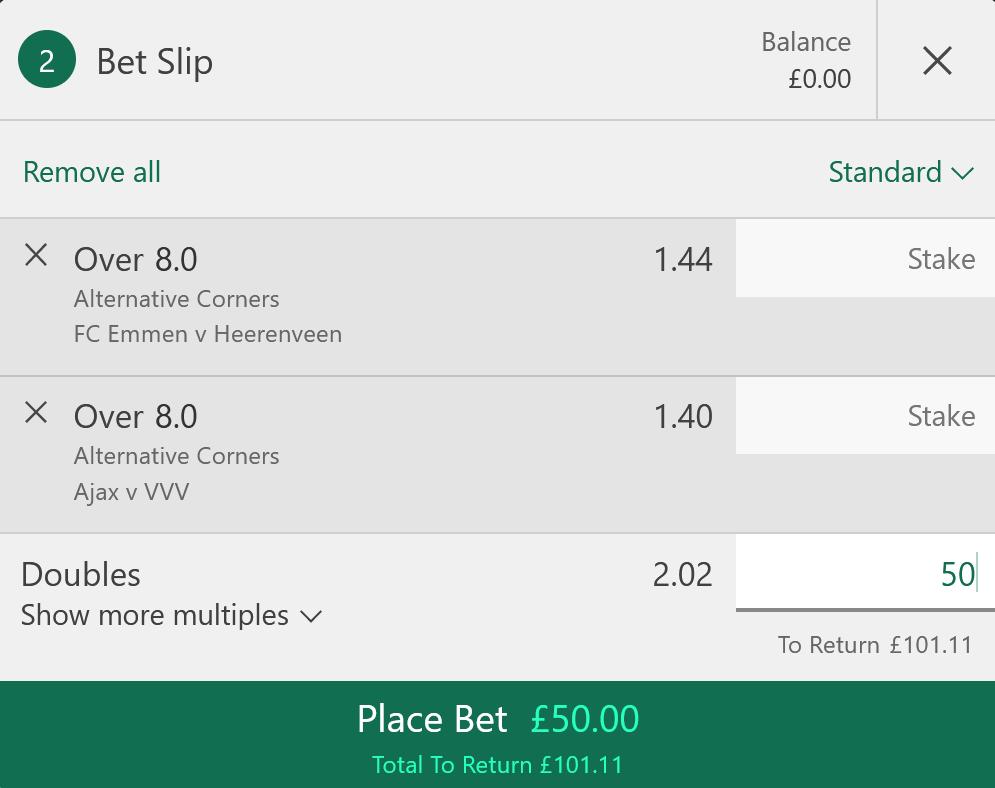 Over 8.5 corners betting tip footy amigo