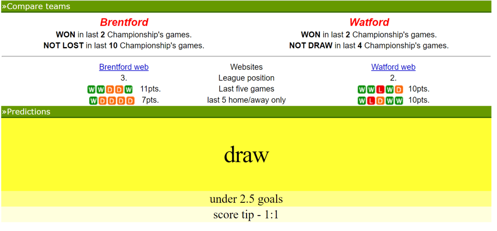 soccer vista predictions and tips