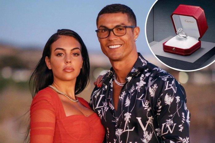 Cristiano Ronaldo girlfriend Georgina Rodriguez engagement ring worth a whopping £615,000.