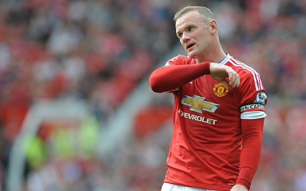 epa04892776 Manchester United's Wayne Rooney reacts during the English Premier League soccer match between Manchester United and Newcastle United at Old Trafford, Manchester, Britain, 22 August 2015. EPA/PETER POWELL EDITORIAL USE ONLY. No use with unauthorized audio, video, data, fixture lists, club/league logos or 'live' services. Online in-match use limited to 75 images, no video emulation. No use in betting, games or single club/league/player publications
