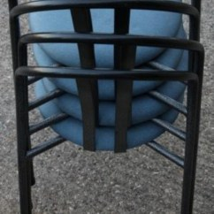 Used Restaurant Chairs For Sale Desk Chair Home Office Secondhand And Tables | Cafe Or Bistro Metal Blue & Black Cushioned Canteen ...