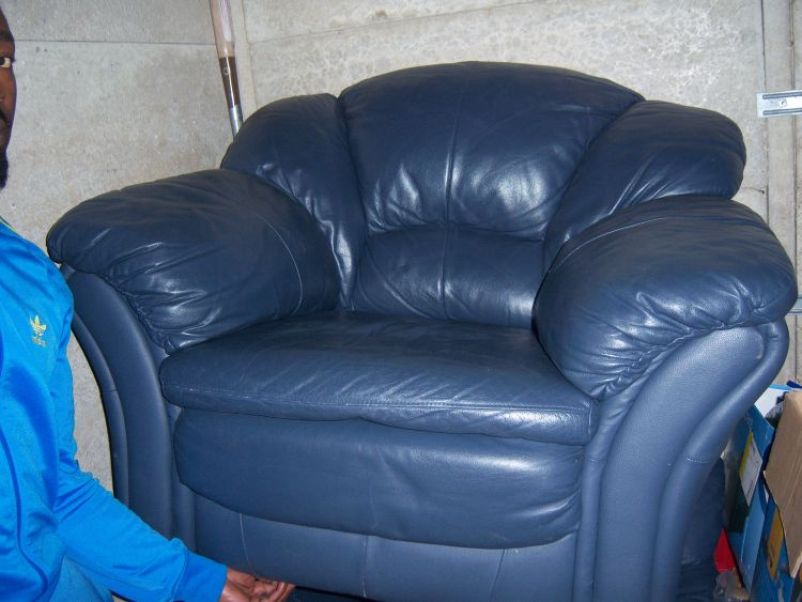 Nice Blue Italian Leather Sofa Www Energywarden Net