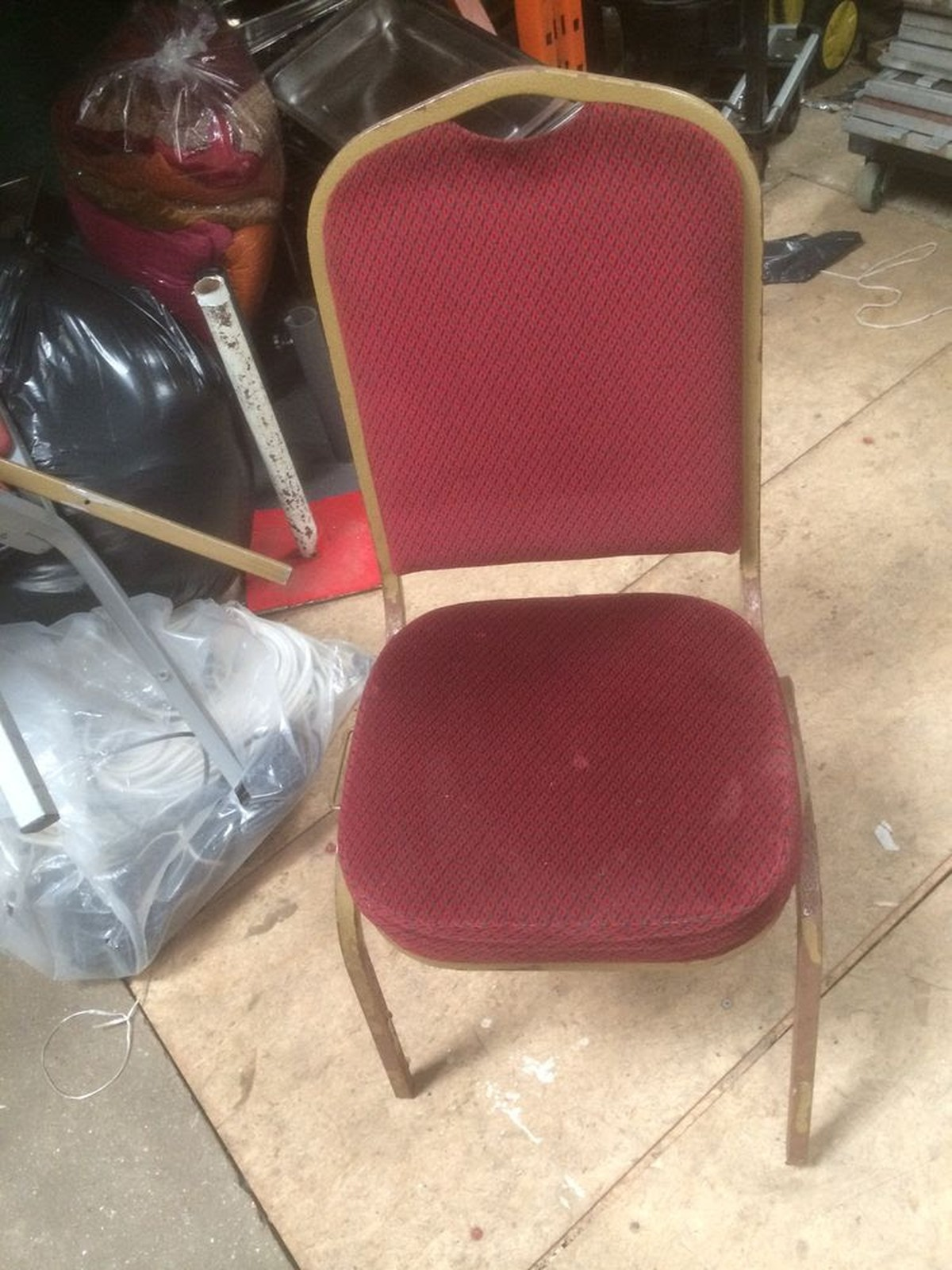 folding chair job lot creeper that turns into a secondhand chairs and tables cheltenham banqueting