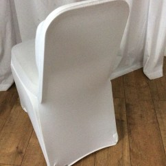Stretch Chair Covers For Sale Bubble Stand Uk Secondhand Chairs And Tables White Lycra