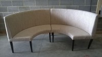 curved banquette seating