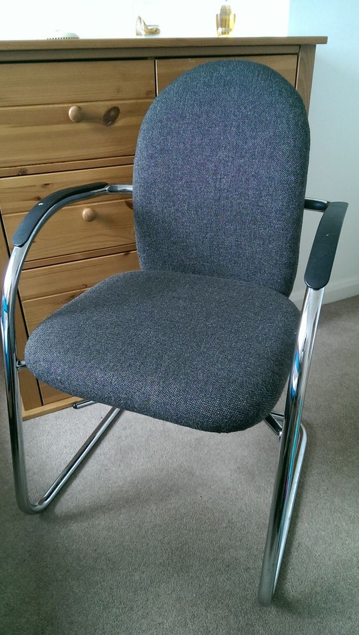 job lot folding chairs fitdesk bike desk chair secondhand and tables office furniture 5 grey