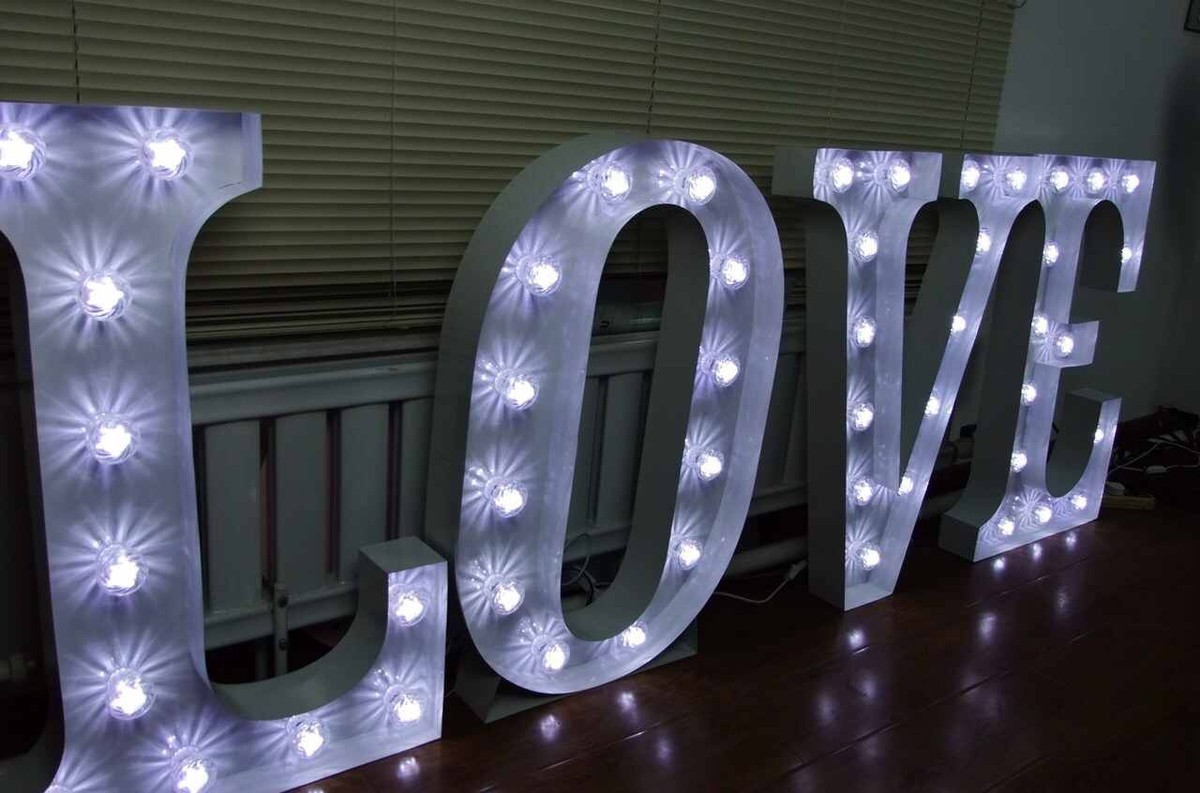 Secondhand Prop Shop  Illuminated Letters  Large 3ft