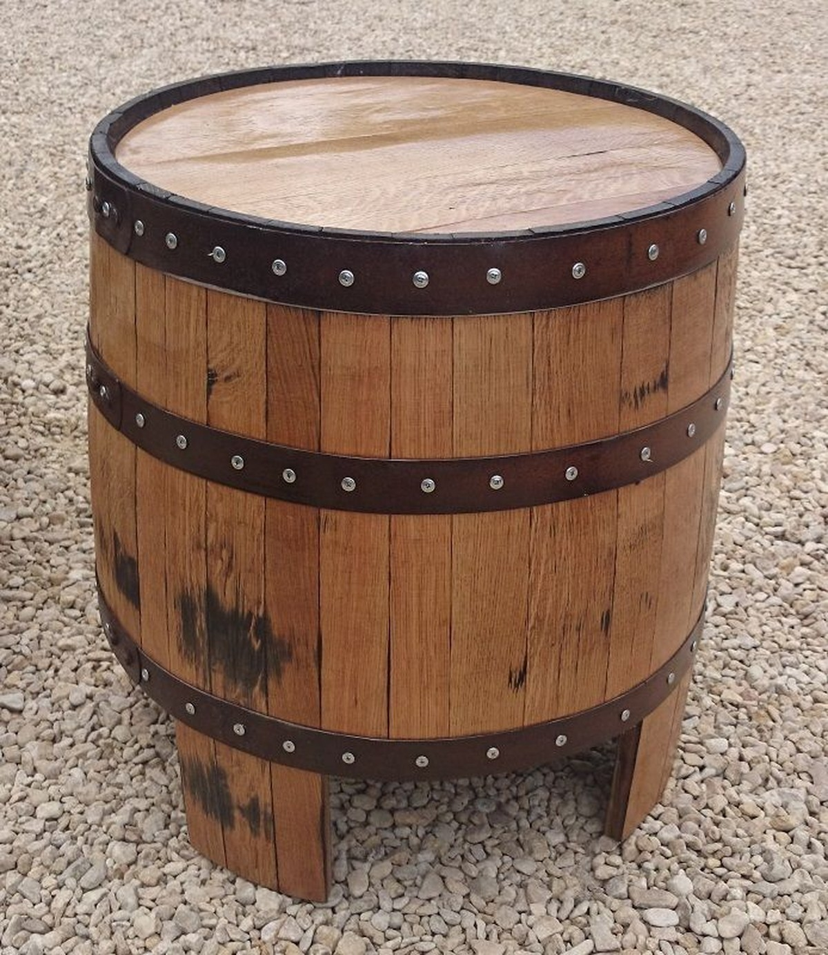 whiskey barrel pub table and chairs big joe lumin chair multiple colors secondhand equipment beer garden furniture nessie