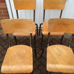 Wooden School Chairs Xenon Office Chair Secondhand And Tables Retro Vintage Or Antique