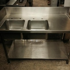 Used Kitchen Sinks For Sale Tables Secondhand Catering Equipment Double 1450 X 760