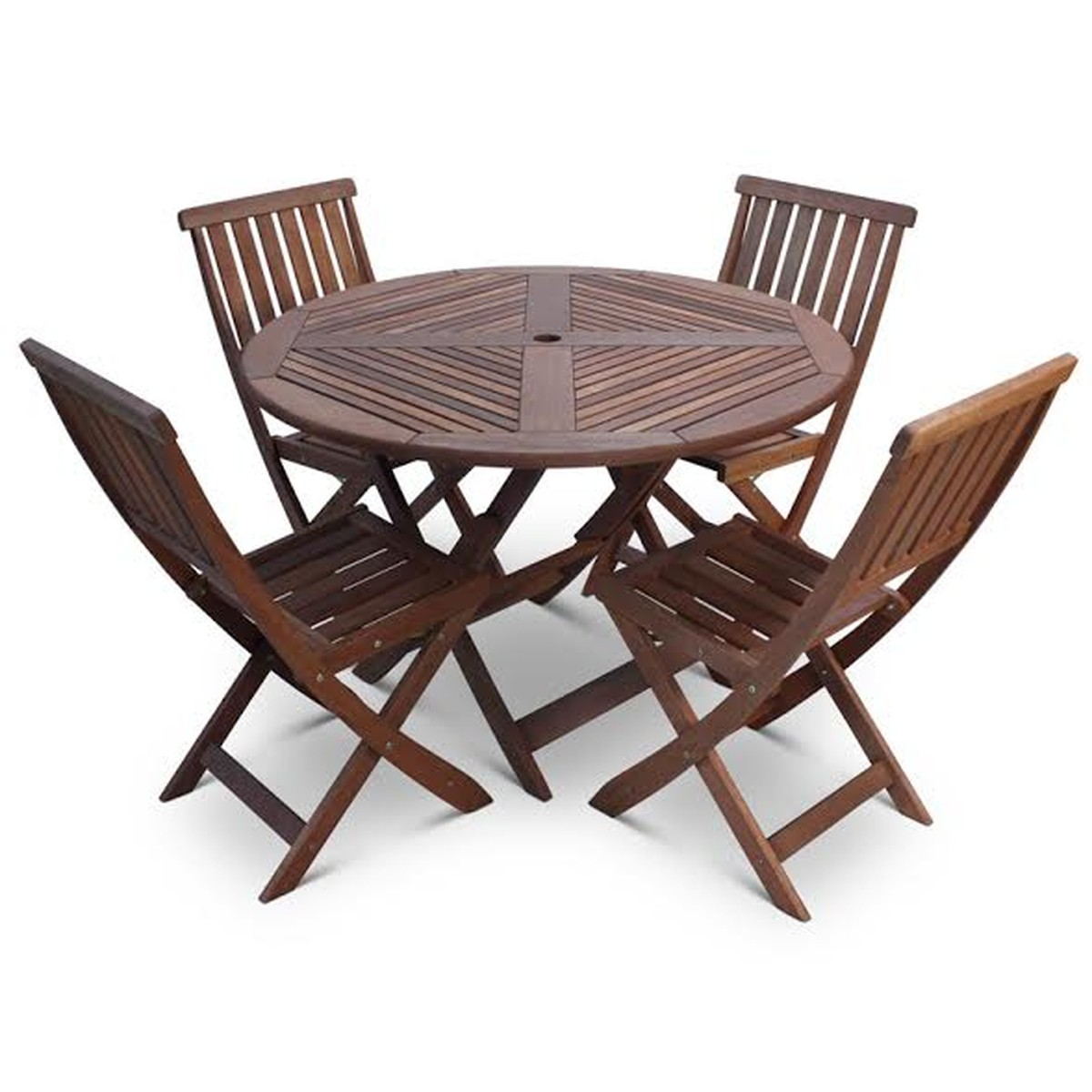folding chair round wedding cover hire lanarkshire secondhand chairs and tables outdoor furniture 12 sets
