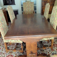 Used Oak Table And Chairs Egg Shaped Swing Chair Antiques Bazaar Dining Banqueting Quality