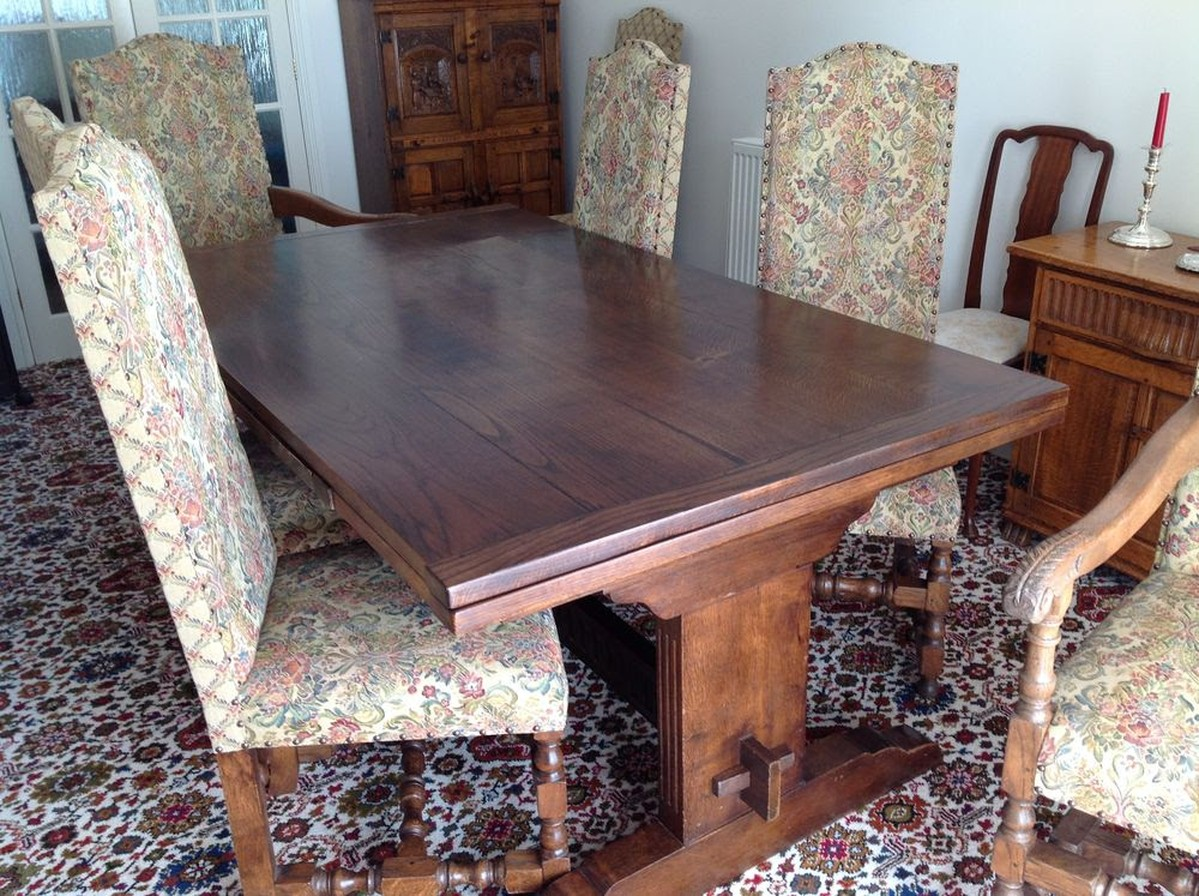 used oak table and chairs lower back support for office chair secondhand vintage reclaimed 30 39s quality