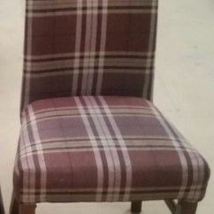 Tartan Dining Chair Covers For Sale Outdoor Swivel Glider Secondhand Hotel Furniture Chairs 5x
