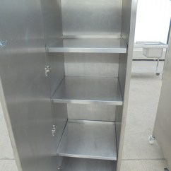 Stainless Steel Kitchen Cabinets For Sale Retro Metal Secondhand Catering Equipment Cupboards And