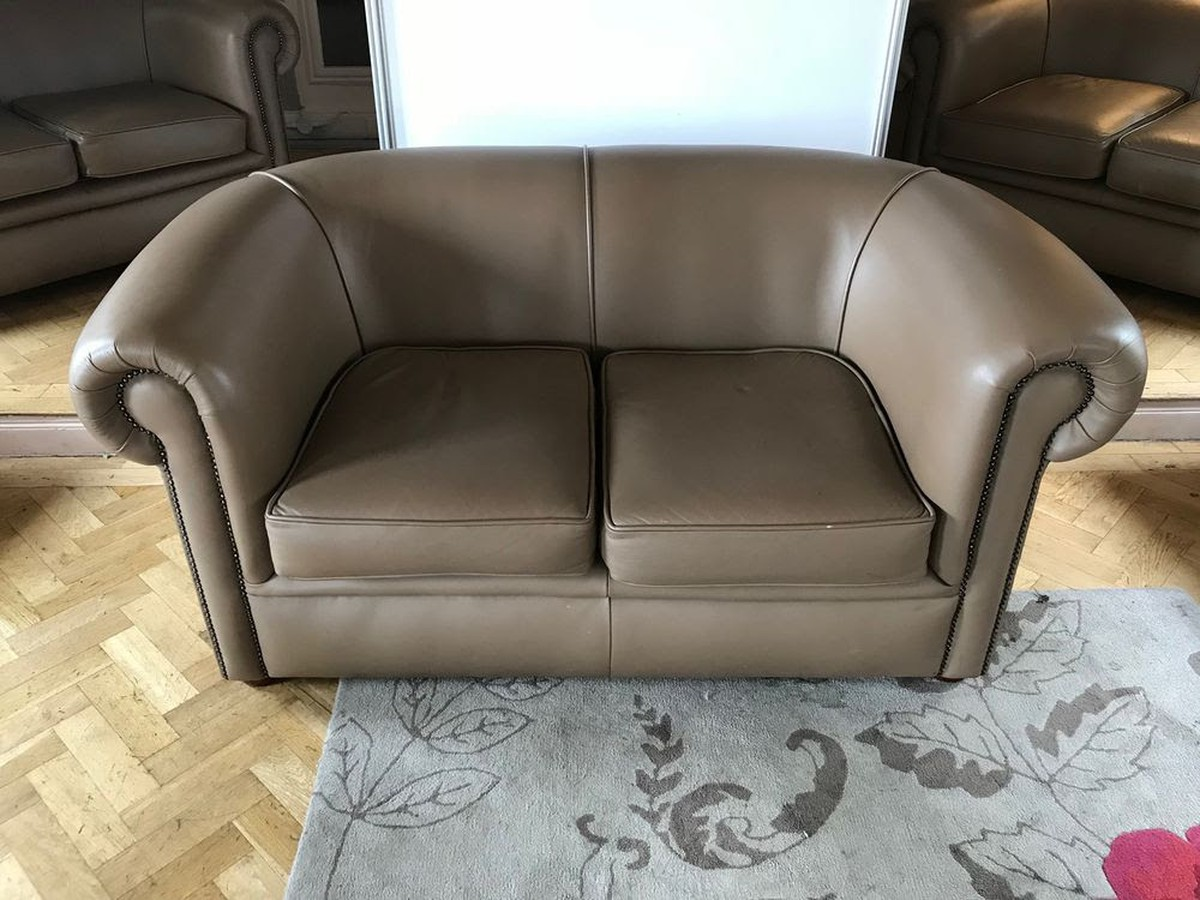 brown sofas for sale chesterfield velvet sofa tesco secondhand pub equipment and low tables 6x light