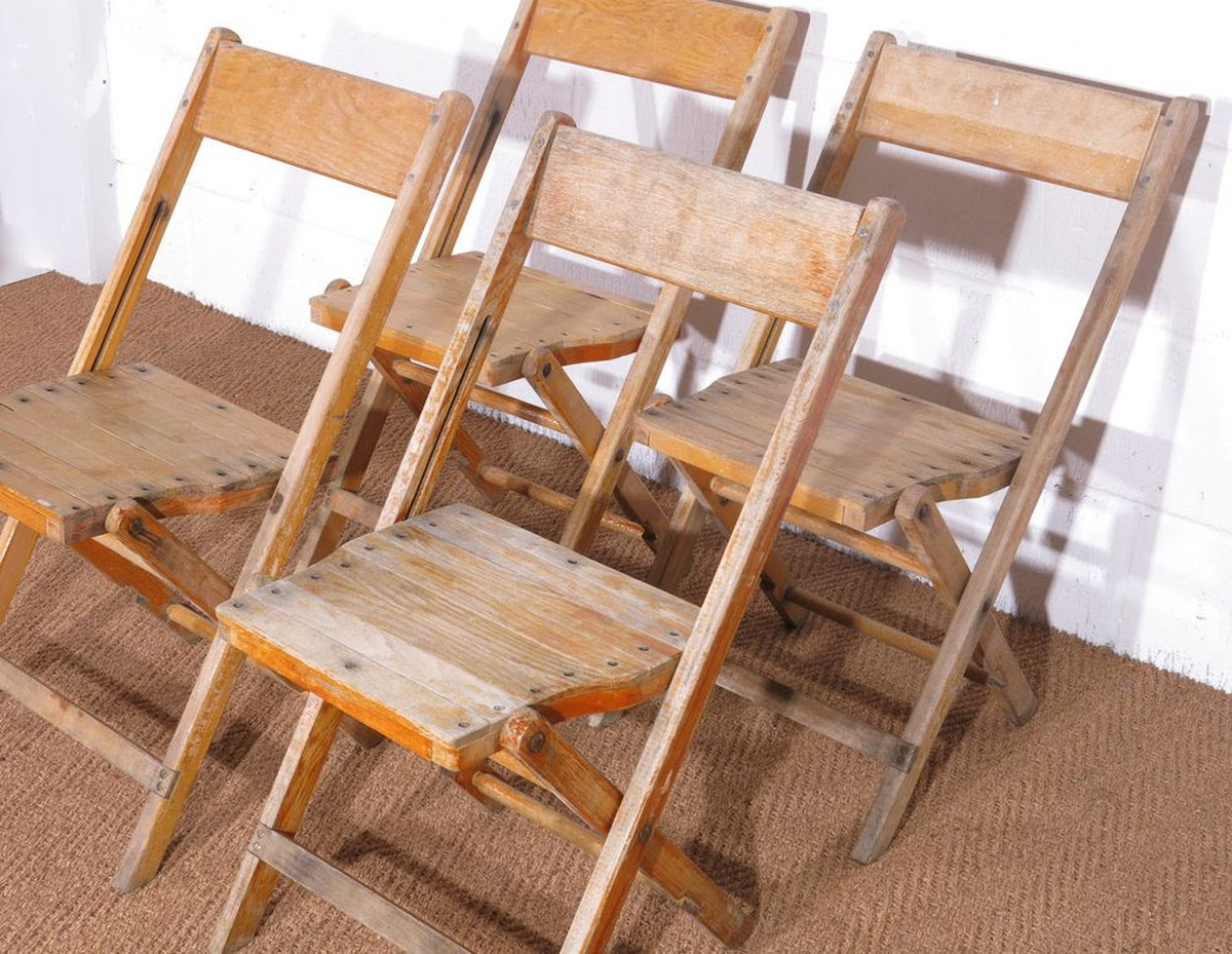 folding chair job lot victorian rosewood chairs secondhand and tables 222x