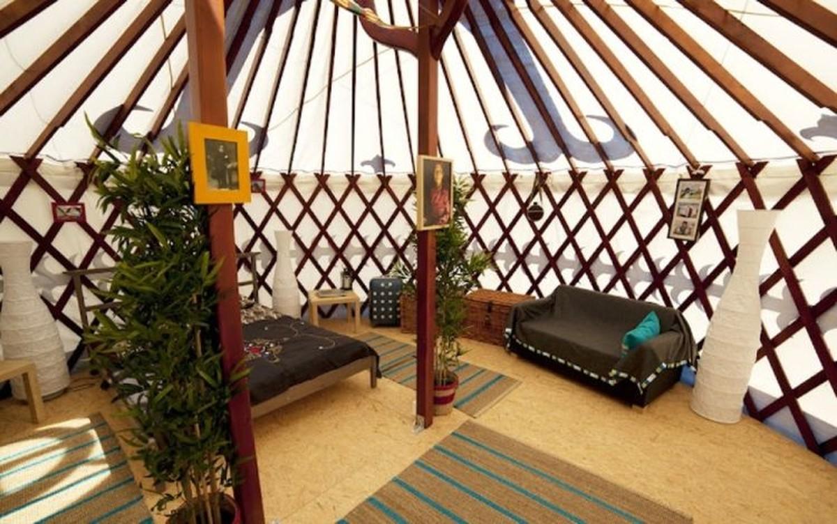 Secondhand Prop Shop  Oriental Props  3 x 6m Luxury Yurts Yurt Village  Glastonbury Somerset