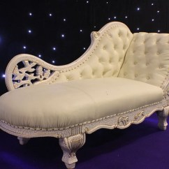 White Chaise Lounge Chair Beauty Salon Reception Chairs Secondhand And Tables Furniture