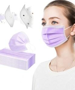 Mascarilla higiénica para adulto color liso lila