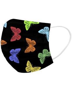 Mascarilla higiénica para niño - estampado mariposas