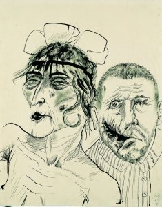 Otto Dix, Prostitute and Disabled War Veteran. Two Victims of Capitalism 1923 LWL-Landesmuseu
