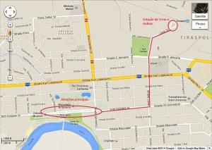 Mapa de Tiraspol