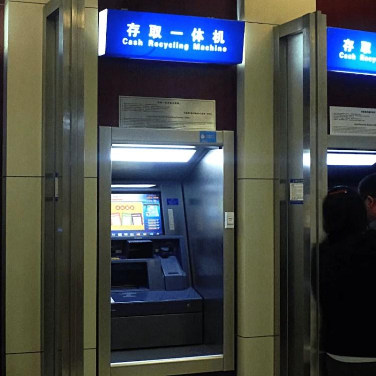 caixa eletrônico china