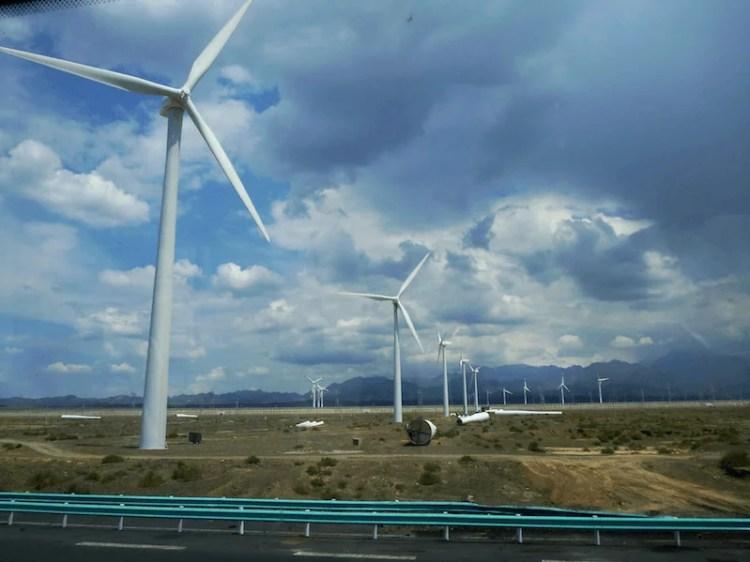 Gansu China energia parque eólico