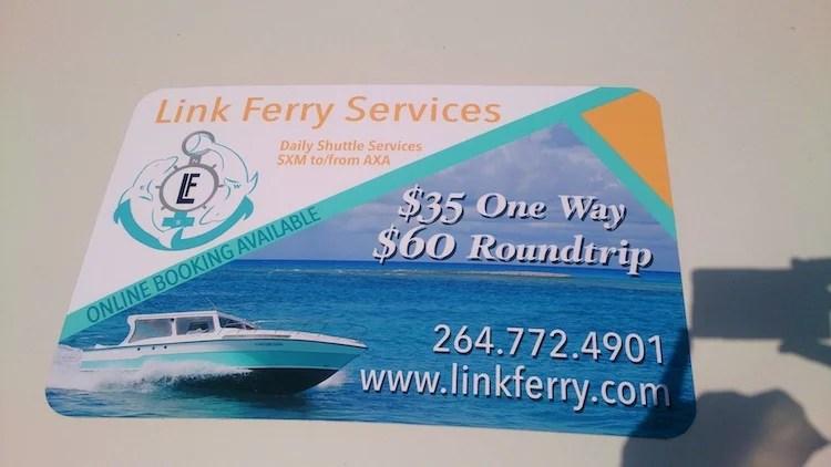 Barco rápido entre Anguilla e Saint Martin