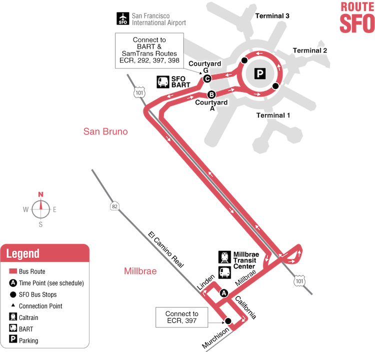 SFO Route_map_01-20-2019