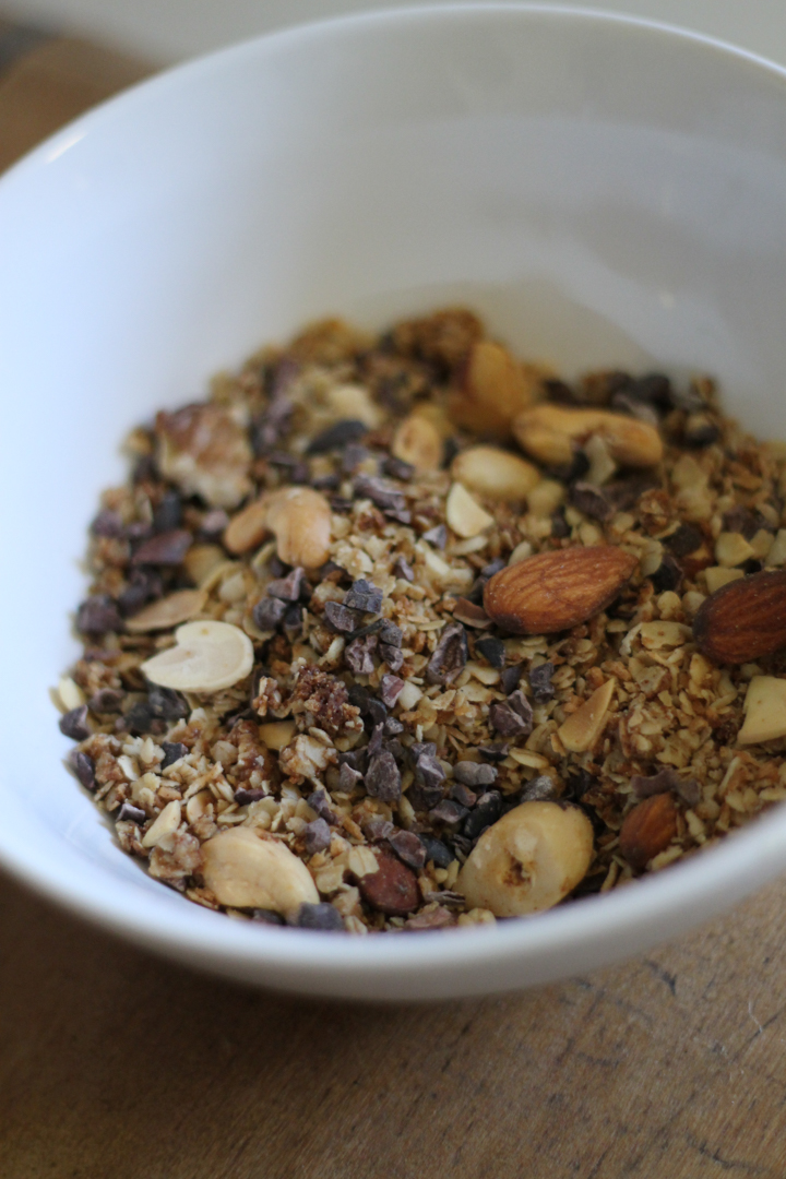 Coconut-nut Granola with Cacao Nibs