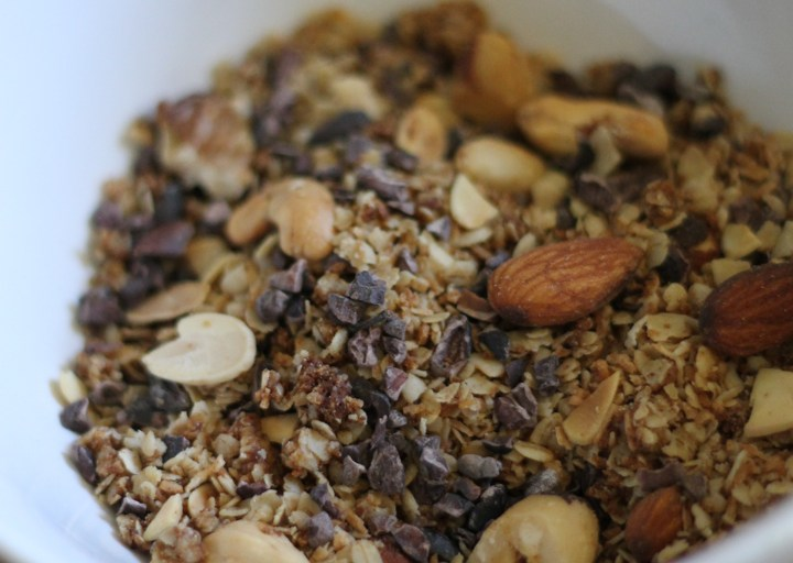 Coconut-nut Granola with Cacao Nibs