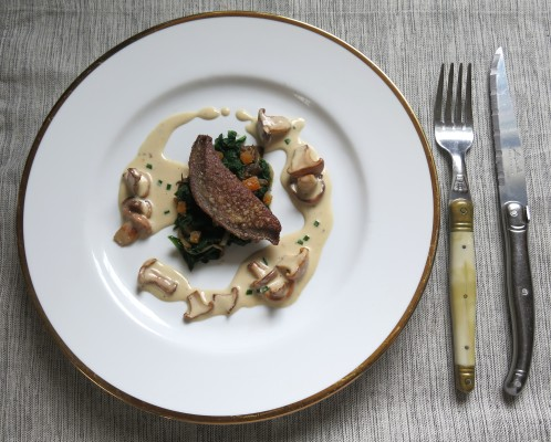 veal liver and sweet chanterelle sauce