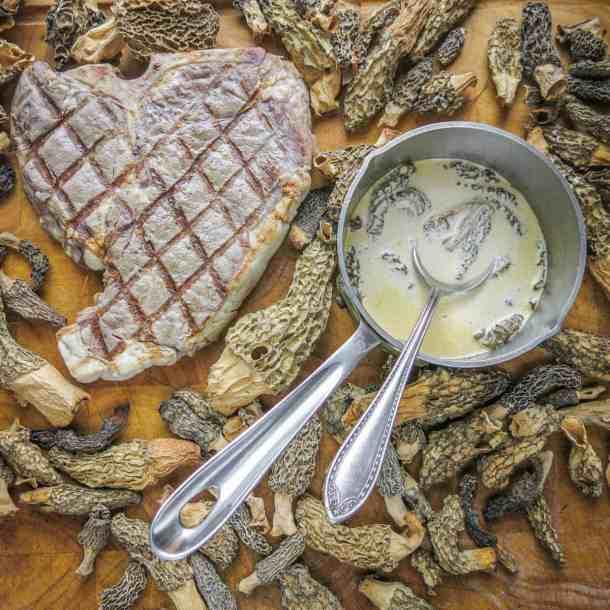 basic steak and morel sauce