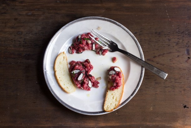 Beef Tartare with dead man's fingers