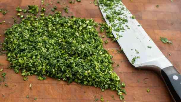 Persillade or chopped garlic and parsley