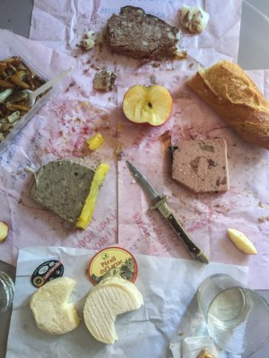 French cheese and charcuterie