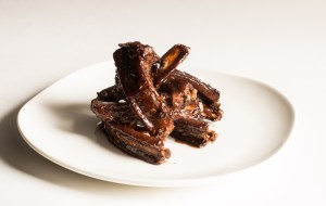 Wild Boar Ribs With Elderberry Vinegar Glaze