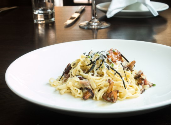 Carbonara of Chanterelle and Black Trumpet Mushrooms