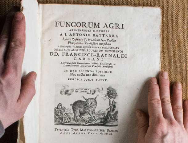 fungorum, battara, ancient book