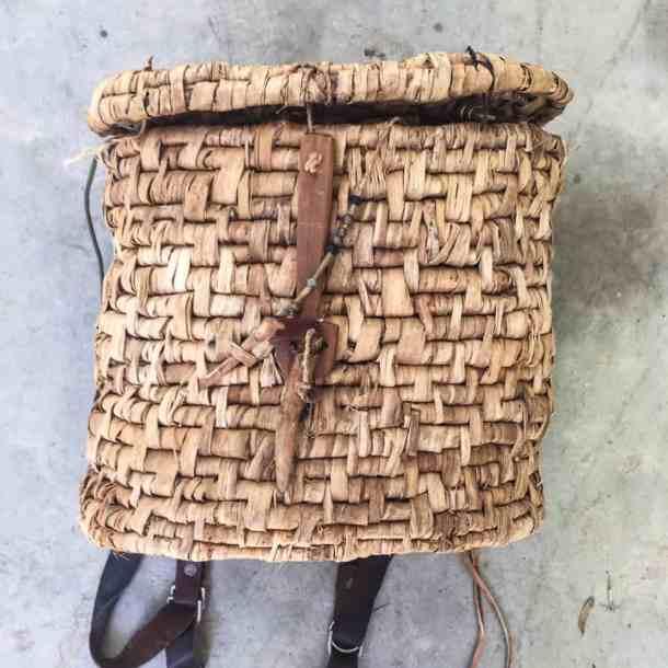 homemade gathering baskets.