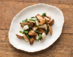 Minnesota Matsutake mushrooms with Hakurei turnips