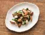 Minnesota Matsutake mushrooms with Hakurei turnips