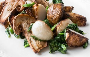 Matsutake Mushrooms with Hakurei Turnips